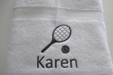 Tennis handdoek met naam
