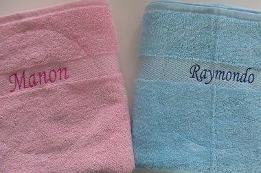 Handdoek Lichtblauw met Naam