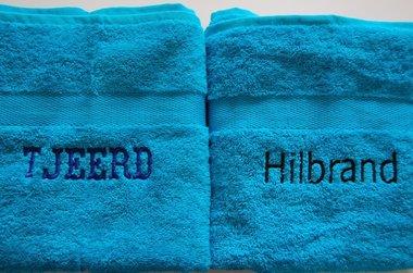 Handdoek Blauw met Naam