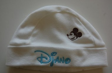 Mickey Mouse Baby muts met Naam