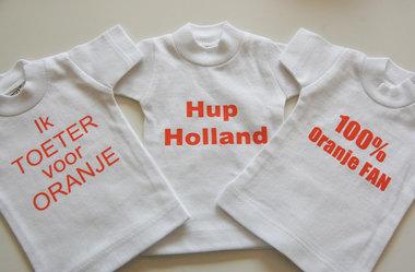 WK voetbal Oranje mini (auto) T-shirt