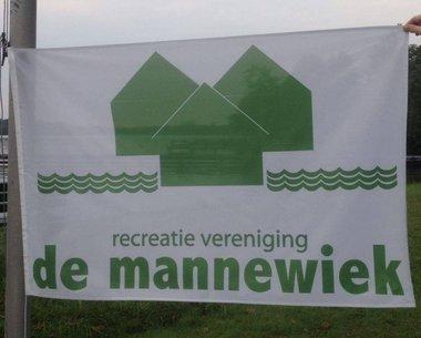 Gevelstok vlag (vlaggenmast) bedrukt met Logo