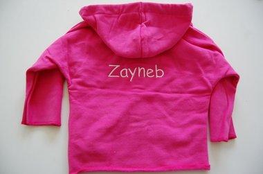 Baby Sweater Donkeroze met Naam