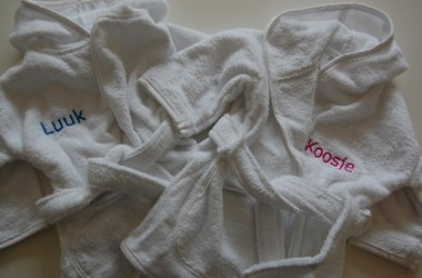Kinderbadjas Wit 1-10 jaar met Naam