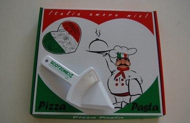 Pizzasnijder met bedrijfslogo