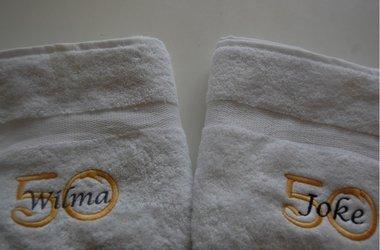 Handdoek met Naam & Leeftijd