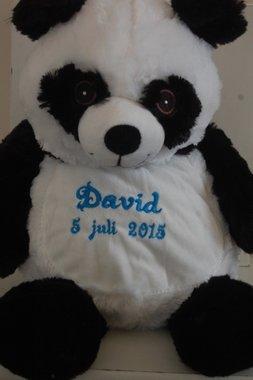Pandabeer met Naam / Panda knuffel beer / Geboorte knuffel