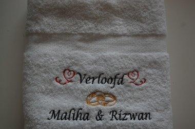 Verlovingscadeau met namen