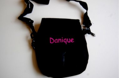 Zwarte Tassen met Naam / Schoudertassen Zwart