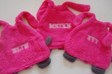 Roze Speendoek / Knuffeldoek met Naam