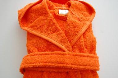 Badjas met Naam oranje