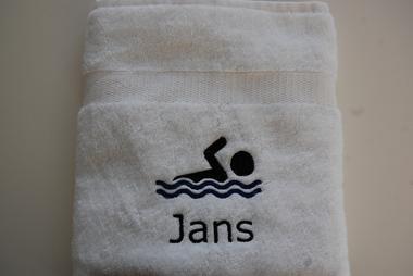 Handdoek met Zwemmer