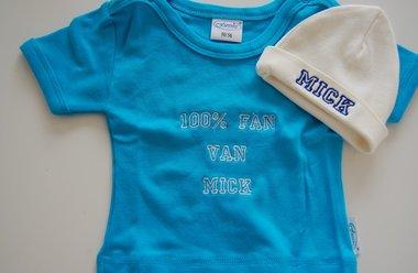 Baby T-shirt met naam Blauw