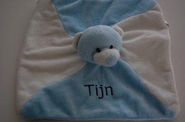Knuffelbeer knuffeldoek Baby Blauw