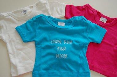 Baby T-shirt Wit met naam