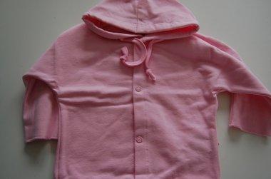 Baby Sweater / Hoodie Lichtroze met Naam