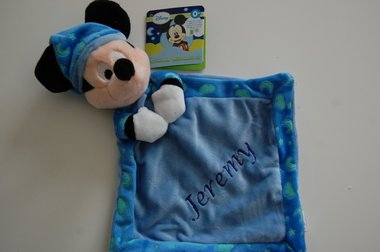 Glow in the Dark Mickey Mouse knuffeldoek met Naam