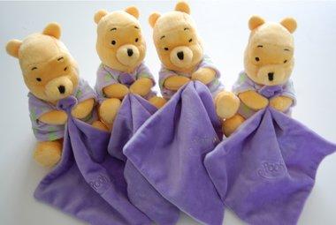 Glow in the Dark Winnie the Pooh Geboorteknuffel met Naam