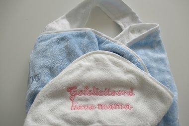 Badschort & Baby Badcape in 1 / Omslagdoek Blauw