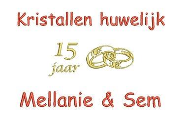 Kristallen huwelijk cadeau   15 jaar getrouwd