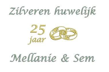 Zilveren huwelijk cadeau   25 jaar getrouwd
