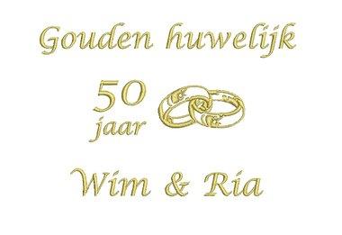Gouden huwelijk cadeau   50 jaar getrouwd