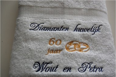 Diamanten huwelijk cadeau   60 jaar getrouwd
