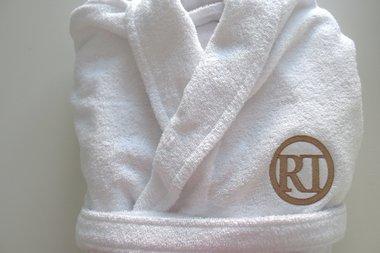 Badjas met Logo / Heren en Dames badjassen maat S, M, L en XL met bedrijfslogo