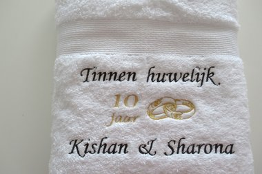 Tinnen huwelijk cadeau | 10 jaar getrouwd