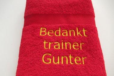 Bedankt cadeau trainer Badlaken