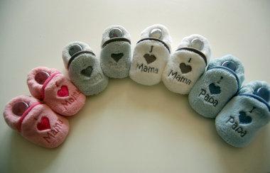 I love Mama / Papa baby Pantoffels