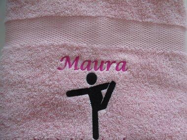 Handdoek  met naam voor Gymnastiek