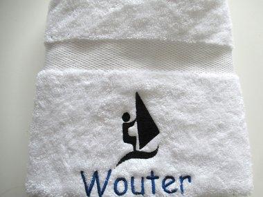 Handdoek met naam voor Windsurfen