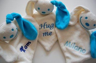 Knuffelpop Blauw met Naam