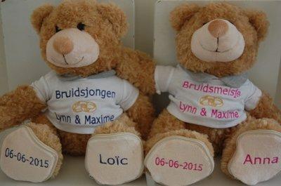 Huwelijksbeer kado voor Bruidskinderen