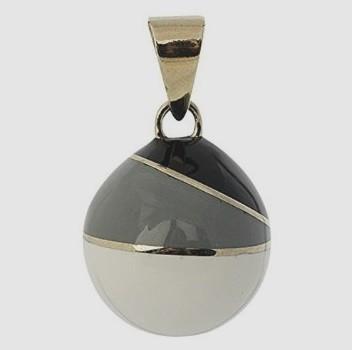 Zwangerschapsbola Grijs Zwart Vintage