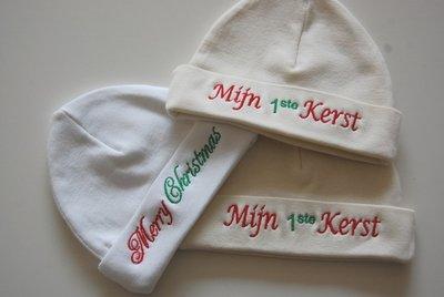 Kerst baby muts / muts mijn 1ste kerst