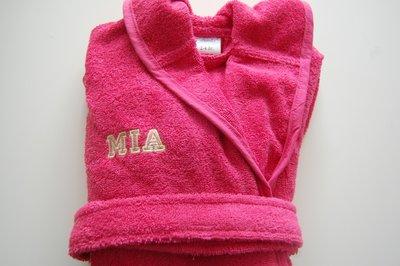 Kinderbadjas Donker Roze 1-10 jaar