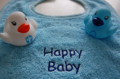 Badeend baby blauw