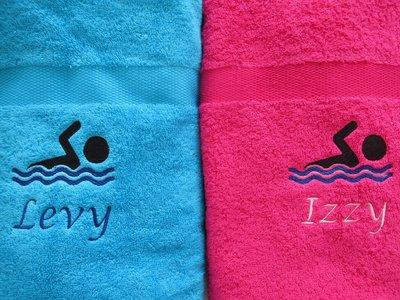 Badlaken met Zwemmer