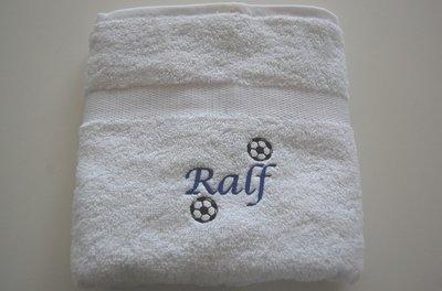 Voetbal handdoek met Naam