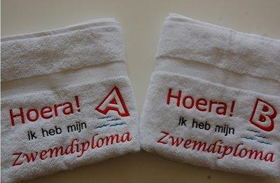 Zwemdiploma handdoek A, B of C
