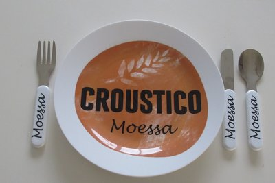 Kinderbordje met logo