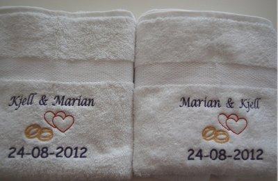 Handdoek Hartjes en Ringen