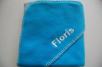Fleece wikkeldeken Blauw met Naam