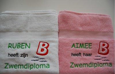 Zwemdiploma B Badlaken met Naam