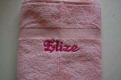 Handdoek met Naam Lichtroze / Babyroze