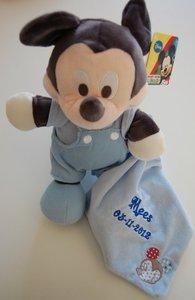 Mickey Mouse geboorte knuffel met Naam