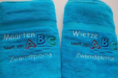 Zwemdiploma A en B diploma Badlaken met Naam