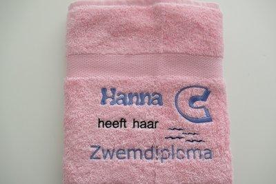 Zwemdiploma C handdoek met Naam